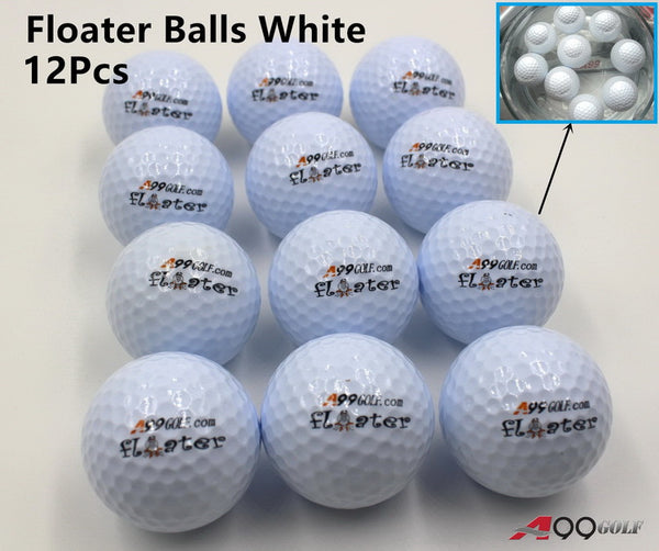 12pcs/pack A99 Golf Floater Balls Floating Float Water Range Ball White