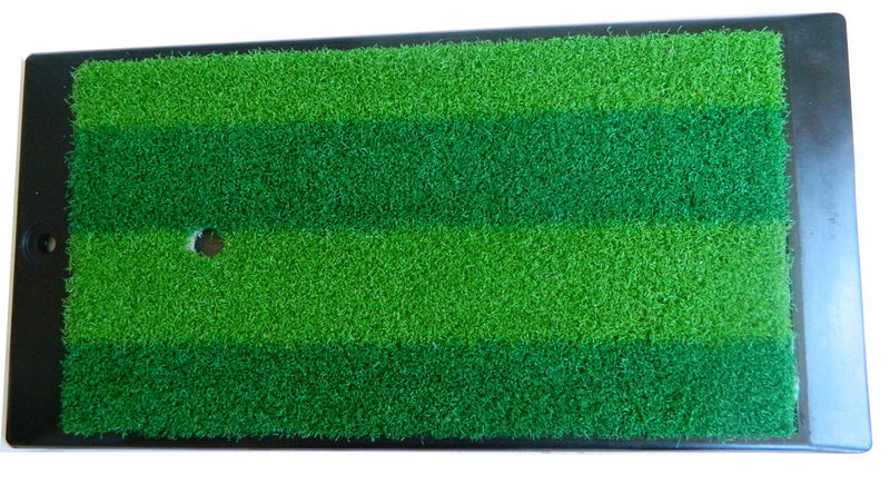 "168R-4 Golf Hitting Mat Heavy Duty Rubber Base Turf Mat 16"" x 8""(40.64cm X 20.32cm) w Free Rubber Tee Indoor Outdoor Use"