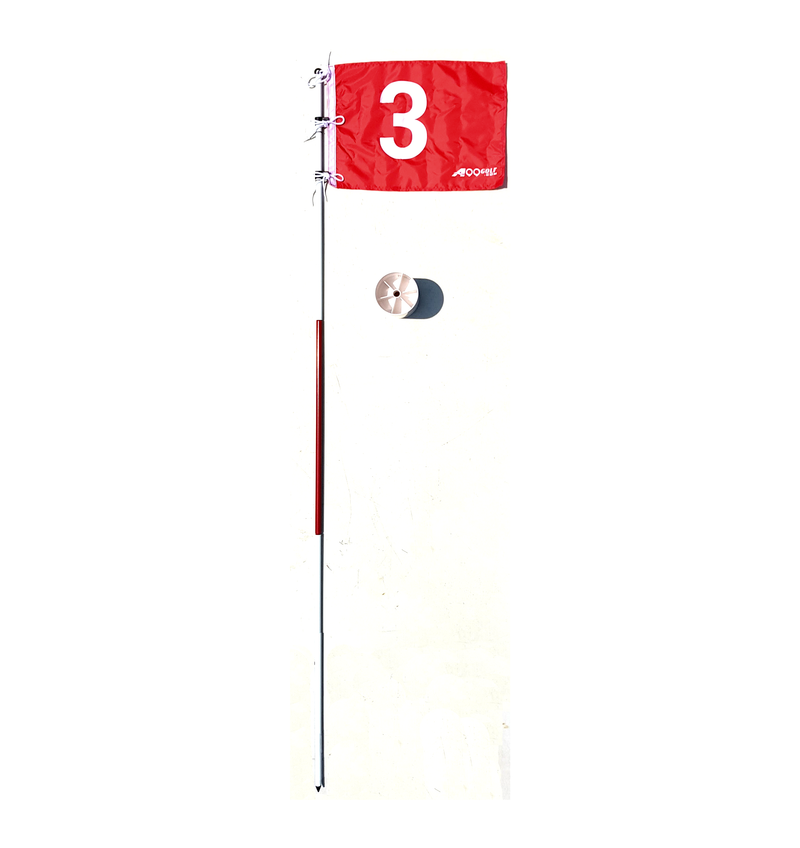 A99 Golf Portable Flag w. Cup Practice  Hole Pole Putting Green