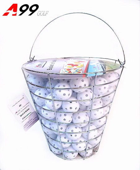 A99 Golf 120pcs Air Flow Balls with Iron Bucket (White or Yellow)