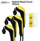 A99 Golf 4pcs/set H10 Long Neck Golf Hybrid Club Head Covers Interchangeable No. Tag