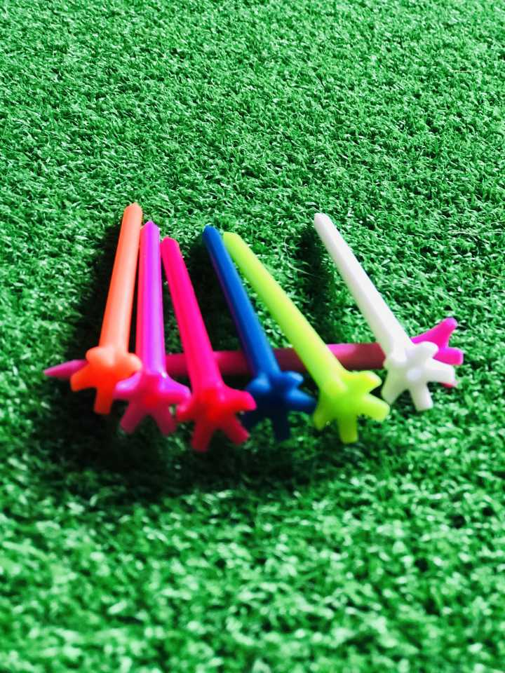 "A99 Golf 2 3/4"" or 3 1/4"" 5-Prong No Friction Tee Mixed Color 100pcs or 200pcs"