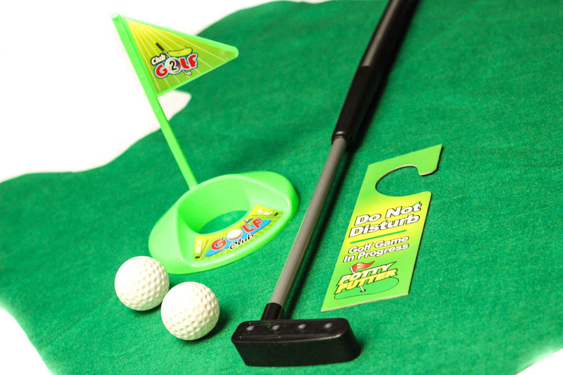 Incroyable A99 Golf Toilet Bathroom Mini Golf Mat Set Game Potty Putter