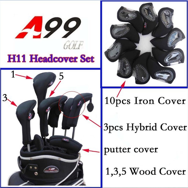 H11 Neoprene Headcover SET 10 iron+3 hybrid+3 wood+1putter