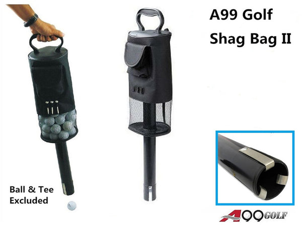 A99 Golf Shag Bag II Convenient Pocket and Tees Pick Up Ball Storage