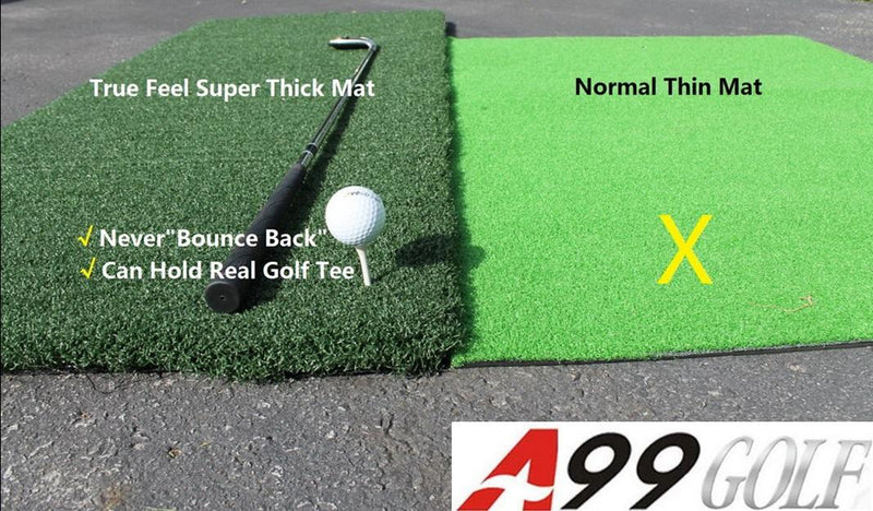 "A99 Golf True Feel Mat II 59 x 39.5"" Super Thick For Driving/Chipping - No Foam Pad"