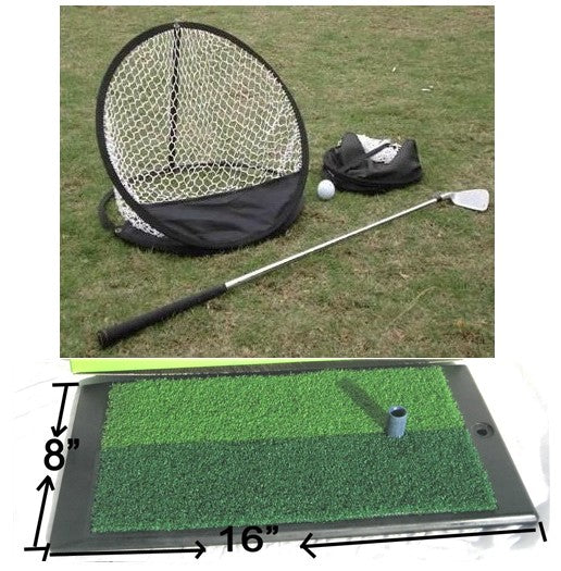 "168E Training Practice Aid Mat 16""X8""X1"" +Driving Chipping Net B"