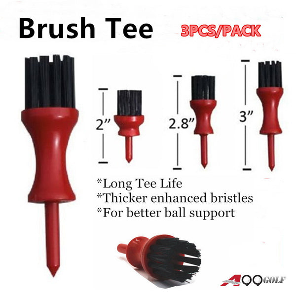 A99 Golf Brush Tee 3 Sizes 3 pcs