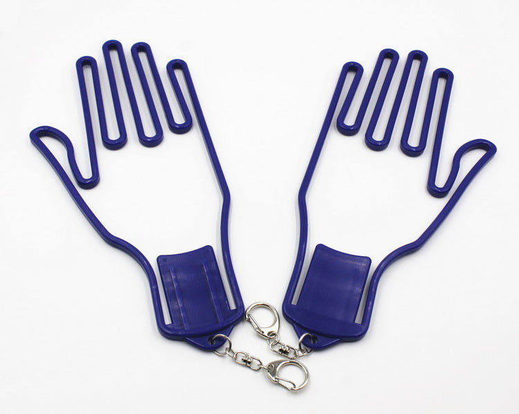 Glove Dryer Left and Right Hand Stretcher Blue 2pcs