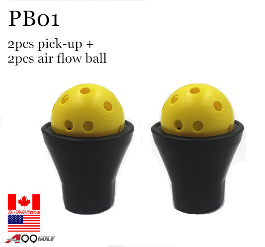 PB01 A99 Golf Ball Pick up Tool Accessories 2pcs with 2 air flow balls