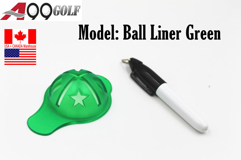 A99 Golf Ball Liner Marker Alignment Tool Ball Plastic green