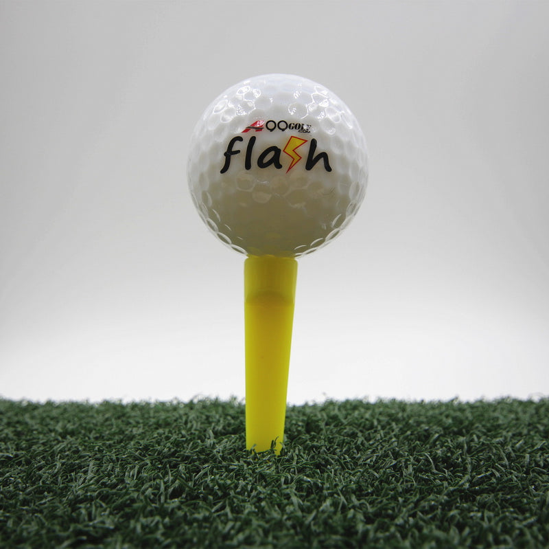A99 Golf Wedge Tee Plastic Tees Golf Practice Training Accessories 70mm Yellow 50pcs