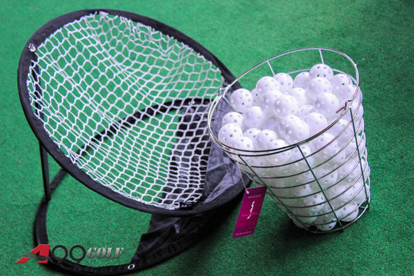 A99 Golf  120 air flow balls white with bucket + chipping net