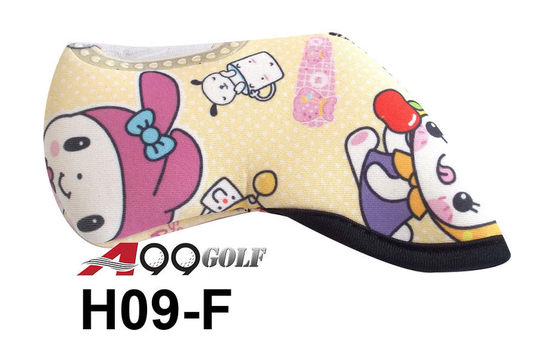 H09-F Golf Head Cover With Animate Animal style Print 9pc