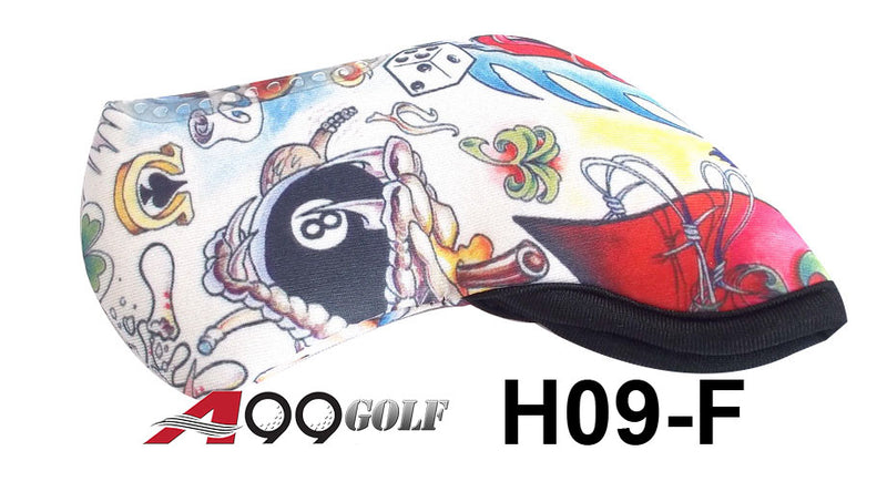 H09-F Golf Head Cover With Animate Vroom style Print 9pc