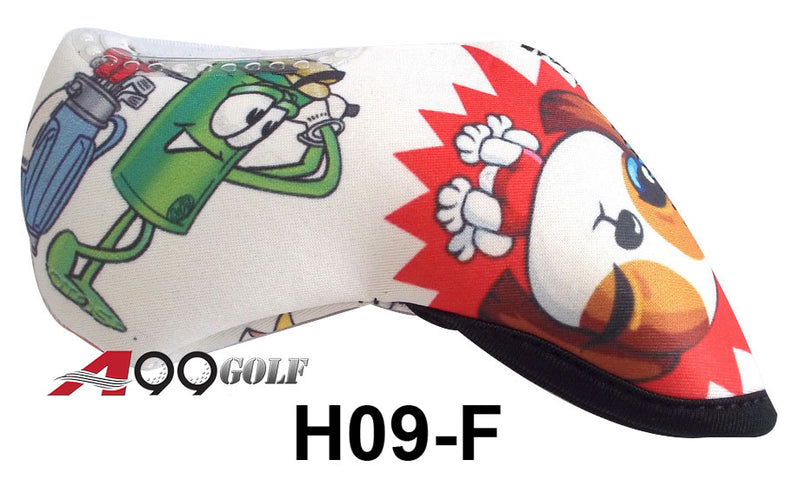 H09-F Golf Head Cover With Animate Animal style2 Print 9pc
