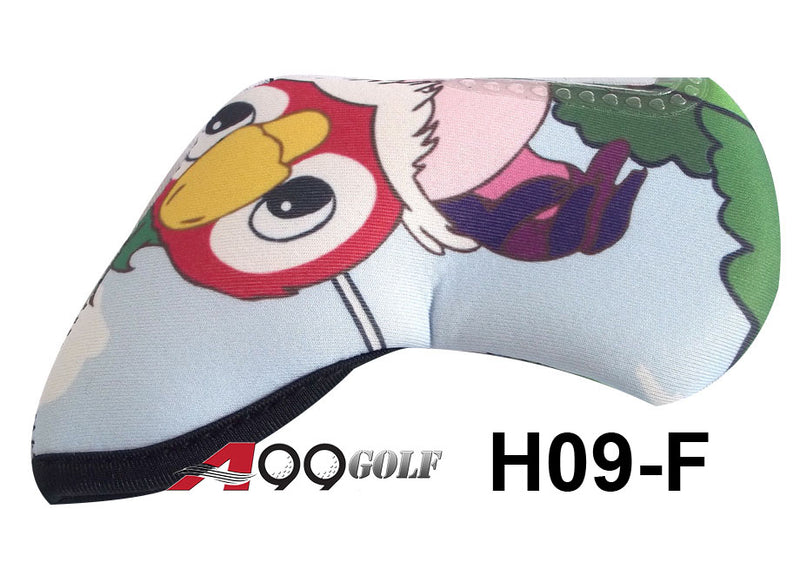 H09-F Golf Head Cover With Animate Happy Bird style 9pc