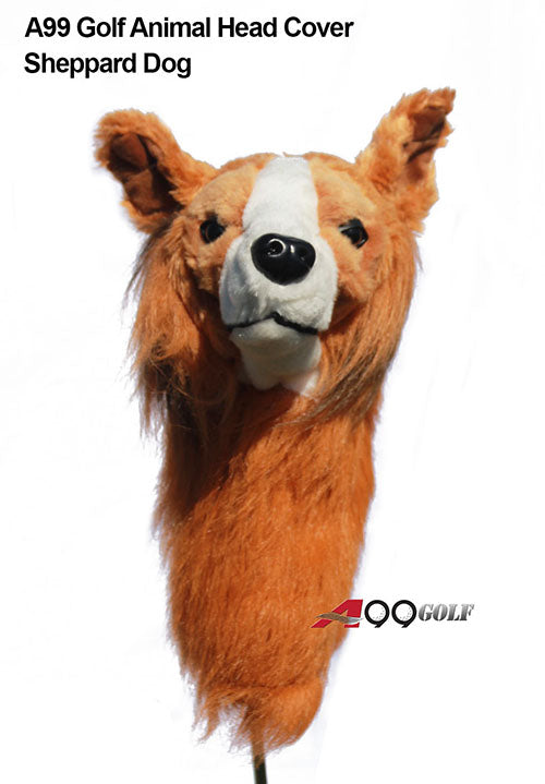 A99 Golf Cute Animal Sheppard Dog Head Cover Wood Headcover Great Gift - Fits Driver