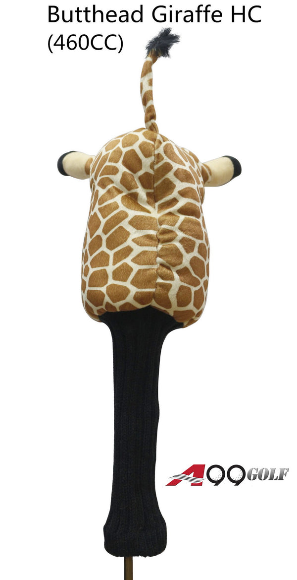 A99 Golf Cute Animal Butthead Giraffe Head Cover Wood Headcover Great Gift - Fits Driver