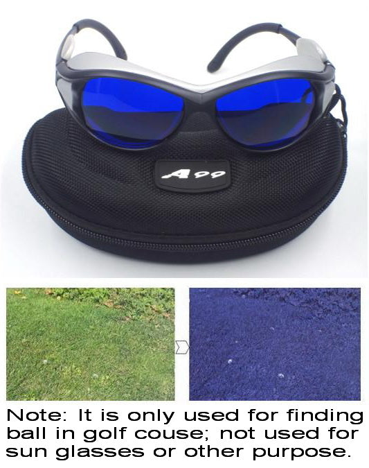 A99 Golf E-2 Eagle Eye Ball Finder Glasses Silver Frame Great Gift - Only Used in Golf Course