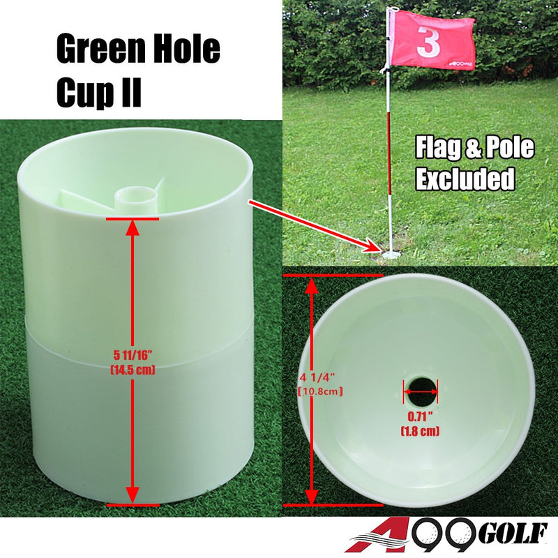 2 pcs x Green Hole Cup II Plastic Practice Aids