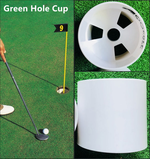 A99 Golf Green Hole Cup Plastic Practice Aids Putting Putter