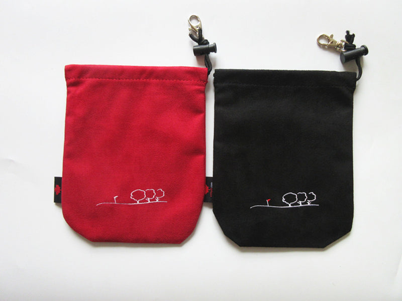 A99Golf Club Sports Valuables Pouch III Accessories Drawstring Pouch Tote Bag 2pcs Red + Black