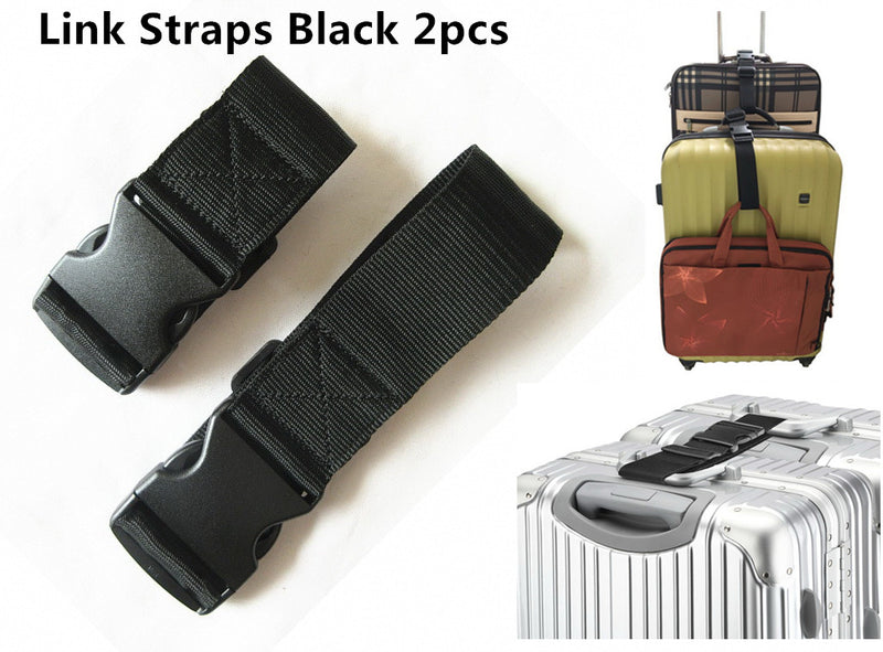 A99 Link Strap Add-A-Bag Luggage Strap Suitcase Packing Belt Travel Accessories 2pcs/pack