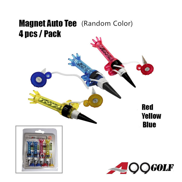 A99 Golf Magnet Auto Tees 4pcs/pack New Random Flexible Magnet Tee for Men Women Kids Practice Training Set Tee Mixed Color Mixed Size
