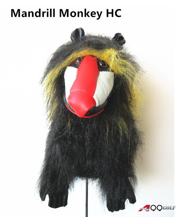 A99 Golf Cute Animal Mandrill Monkey Head Cover Wood Headcover Great Gift - Fits Driver