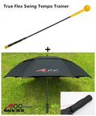 A99 True Flex Swing Tempo Trainer + 1pc Double Canopy Golf Umbrella
