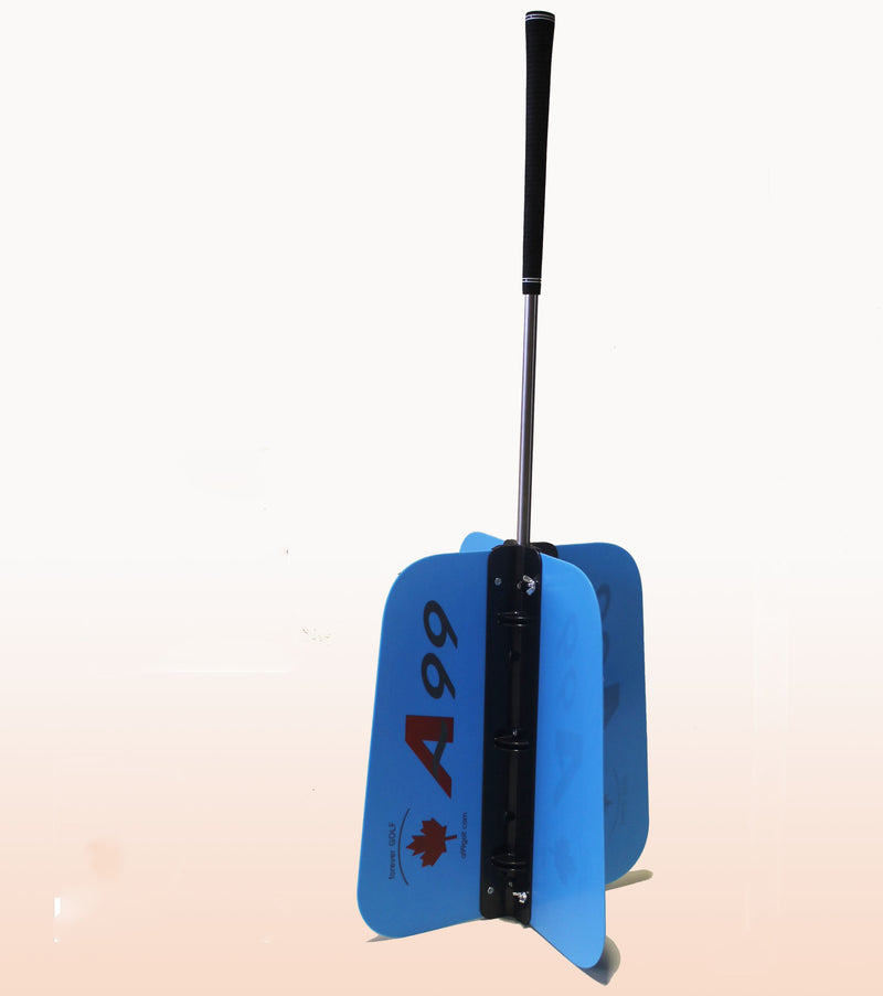 A99 Golf Power Swing Fan Training Aid Practice Club M / L size Blue/White