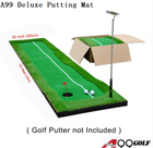 A99 Golf Deluxe True Feel Putting Mat Driving Range Mat Putting Trainer Indoors Outdoors (20in x 10ft)