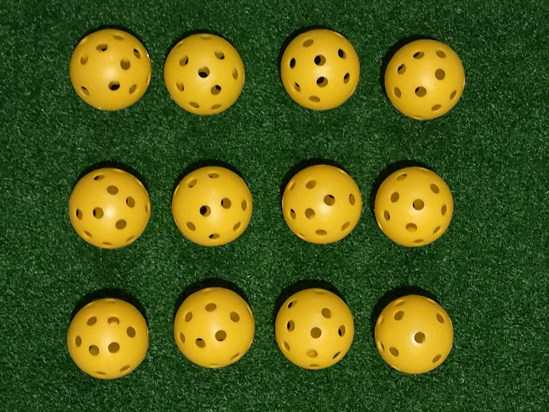 A99 Golf 200pcs Air Flow Golf Balls Practice Training Balls for Driving Range, Swing Practice, Indoor Simulators, Outdoor & Home, Water & Pool Use Yellow