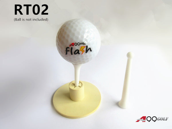 "A99 Golf RT02 Rubber Golf Tee Holder + Golf tees 2 1/2"" and 1 3/4""   Long"