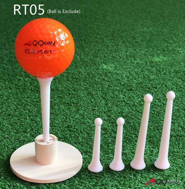 "A99 Golf RT05 Rubber Golf Tee Holder + Golf tees 2 1/2"" and 1 3/4""   Long"