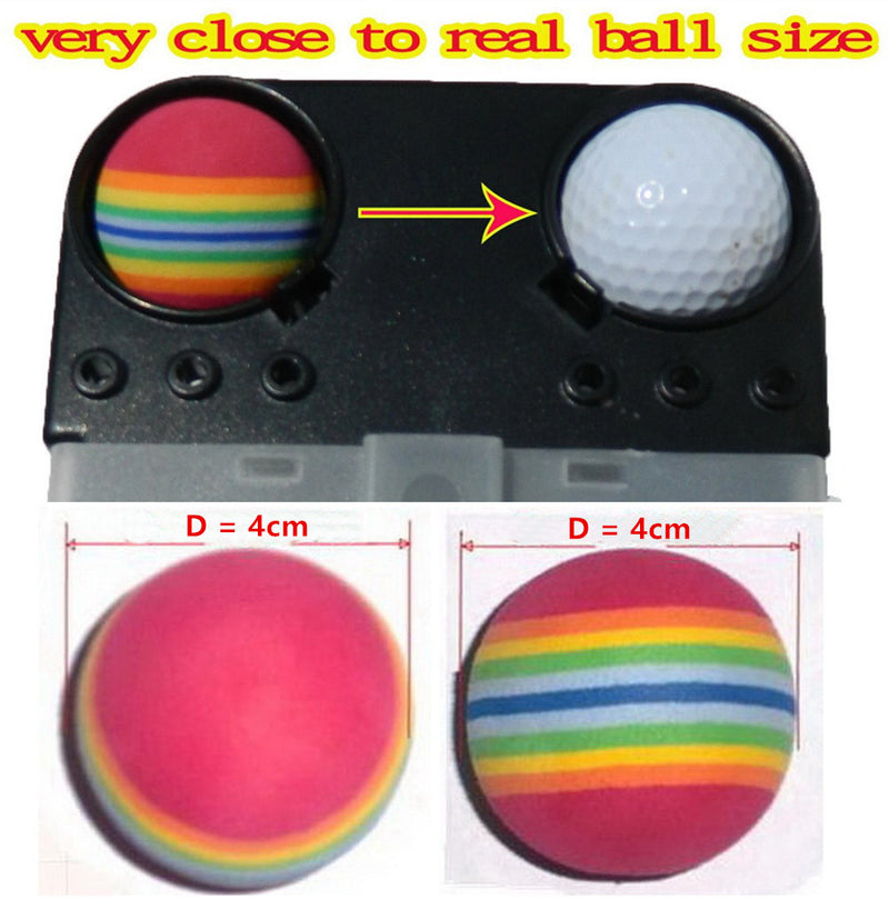 A99 Golf Rainbow Foam Ball Practice 110 Pcs with Bucket Practice Training Balls for Driving Range, Swing Practice, Indoor Simulators, Outdoor & Home Use Floating Water Fun