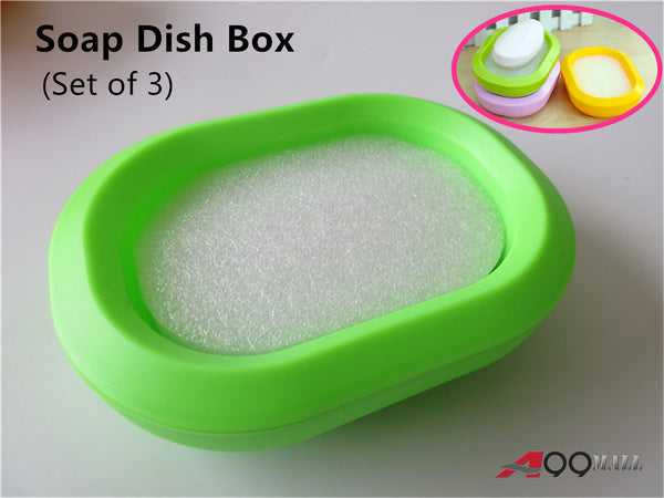 A99 Soap Dish Box Holder Set of 3