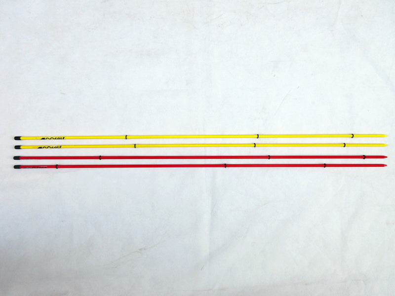 2 Pairs x A99 Golf Alignment Sticks Swing Tour Red & Yellow