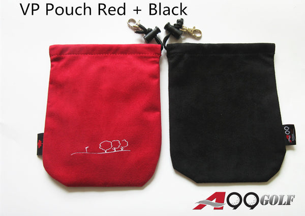 A99 Golf Valuables Pouch III Accessories Bag 2pcs Red + Black