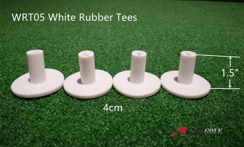 "A99 Golf WRT-05 Rubber Tee 4Pcs 4cm/1.5"" for Practice Mat Use Indoor Outdoor Simulator Home Use Practice Training Aid Can Insert Reel Tee"