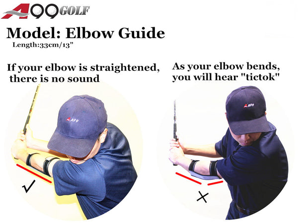 A99 Golf Elbow Guide Clicker Swing Trainer