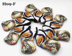 H09-F Golf Head Cover with Animate Peacock Style Print 9pc