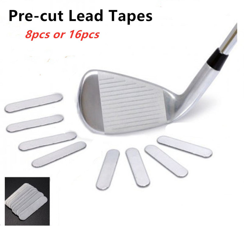 A99 Golf Pre-Cut Lead Tape weighted Weight on Golf/ Tennis Racket Iron Putter 8pcs or 16pcs