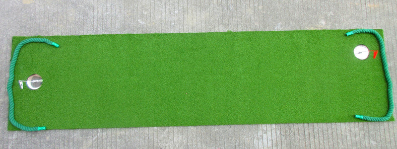 A99 Golf True Feel Putting Green Mat(2'x8') Artificial Grass Turf Training Mat Synthetic Fake Grass with Putting cup, Ball stopper, Flag