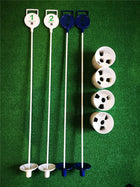 A99 Golf Putting Flagstick w. Hole Cup (4 sets) Practice Putting Green