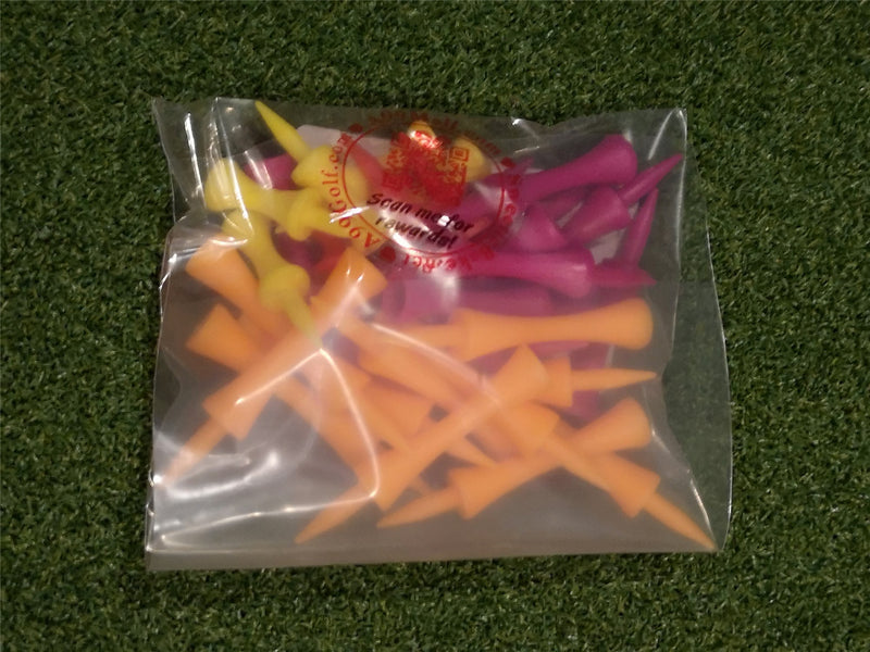 A99 Golf Step Tee III 30pcs Castle Tees Step Down Plastic Tees Mixed Color Mixed Size (4 Colors 4 Sizes)
