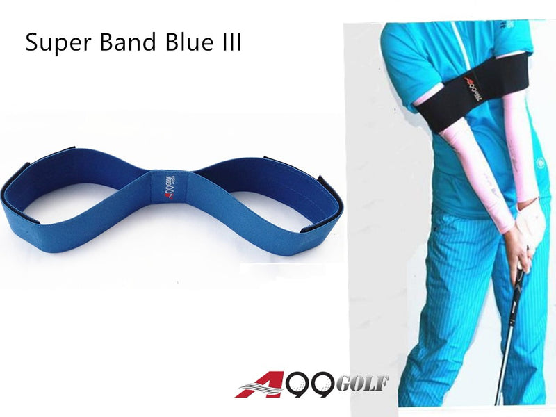 A99 Golf Super Band III Swing Practice Band Smooth Swing Training Aid Blue