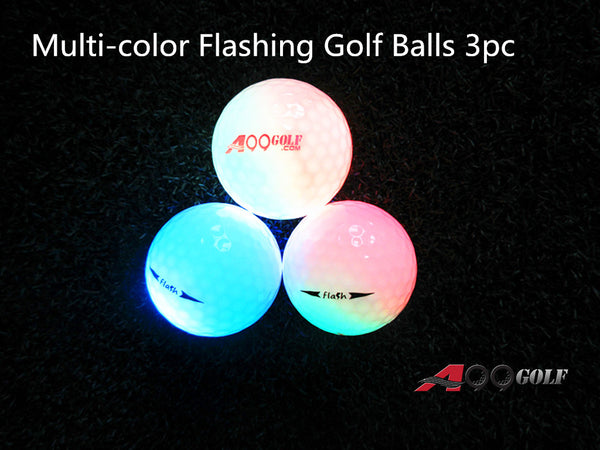 3 pcs A99 Golf Twilight  Light-up Multi-color Flashing Golf Balls