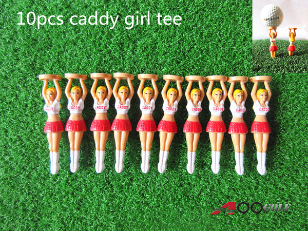 A99 Golf Pack of 10 Novelty Caddy Girl Golf Tees Gift Tee Cheerleader Tee Birthday Gift